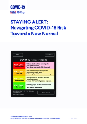 Staying Alert: Navigating COVID-19 Risk Toward a New Normal