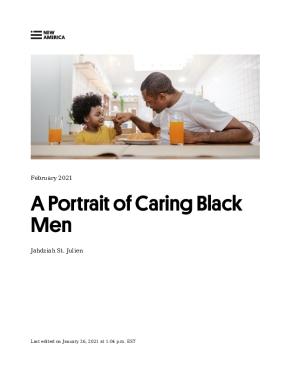 A Portrait of Caring Black Men